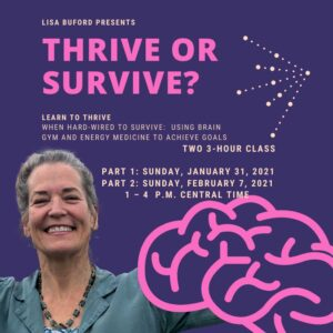Learn to Thrive when Hard-wired to Survive: Using Brain Gym andEnergy Medicine to Achieve Goals